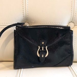 Kate Spade Wristlet Small Black Patent Leather